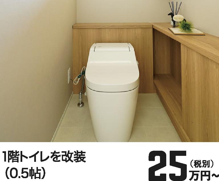 1階トイレを改装(0.5帖) 25万円~(税別)
