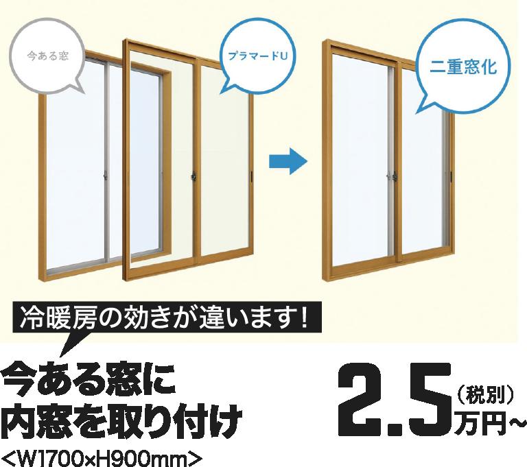 [冷暖房の効きが違います!]今ある窓に内窓を取り付け 2.5万円~(税別)