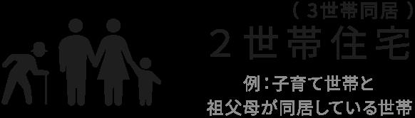 ( 3世帯同居 )2世帯住宅 例:子育て世帯と祖父母が同居している世帯